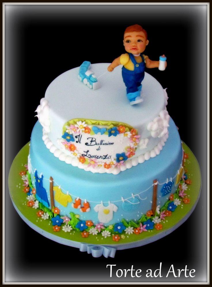 Christening cake Torta Battesimo Bambino