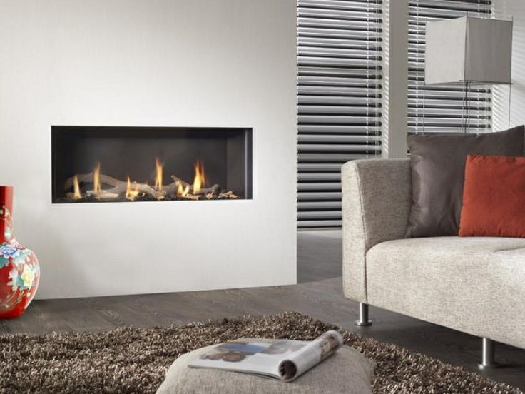 Contemporary Built In Fireplace (gas Closed Hearth) VESUVIUS 100 B.