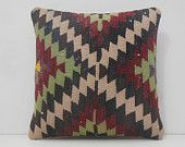 outdoor decorative pillow 18x18 DECOLIC rustic throw pillows large carpet tapestry rug sofa pillow red black green 14865 kilim pillow 45x45
