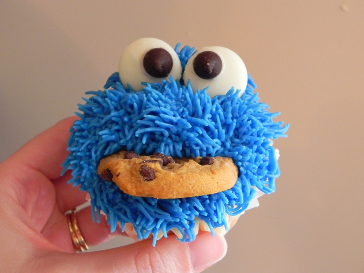 Cookie Monster Cupcakes Our Cakes And Cupcakes