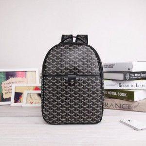sac à dos goyard noir 1.Marque  : goyard 2.Style  : Sac à dos Goyard 3.couleurs : noir 4.Matériel :PVC avec cuir 5.Taille: W25cm×H32cm×D8cm