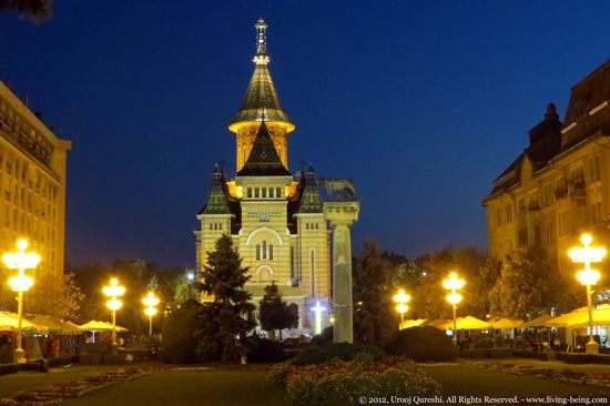 Timisoara Cathedral on one of my evening walks