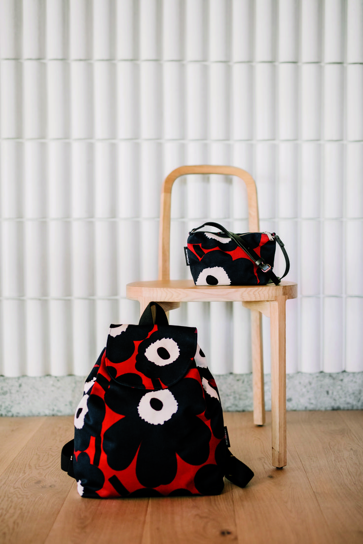 Marirmekko Erika Unikko backpack and Maria Unikko shoulder bag.