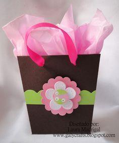 bolsas de papel con moño para cumpleaños - Buscar con Google