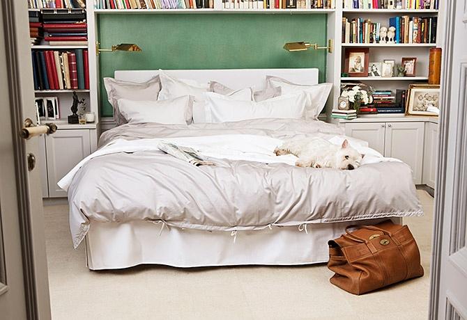 Lyxiga sängkläder i satin