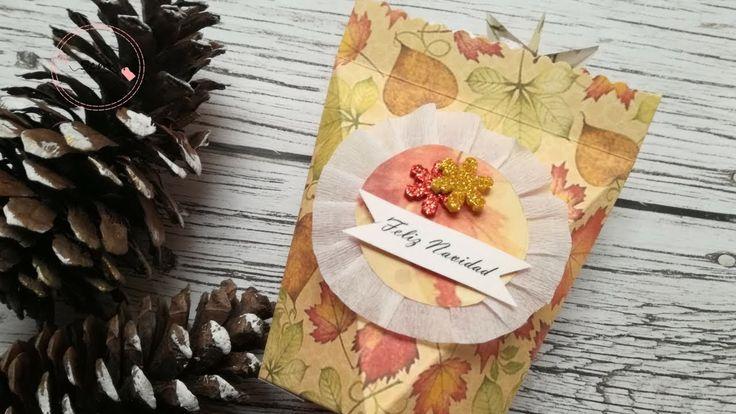 Manualidades para Navidad: Como hacer empaque de regalo para Navidad fác...