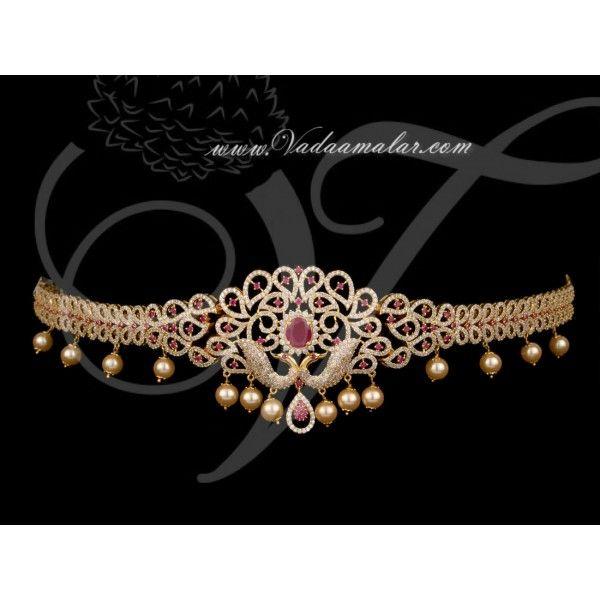 Peacock Design Oddiyanam Waist Hip Belt Chain