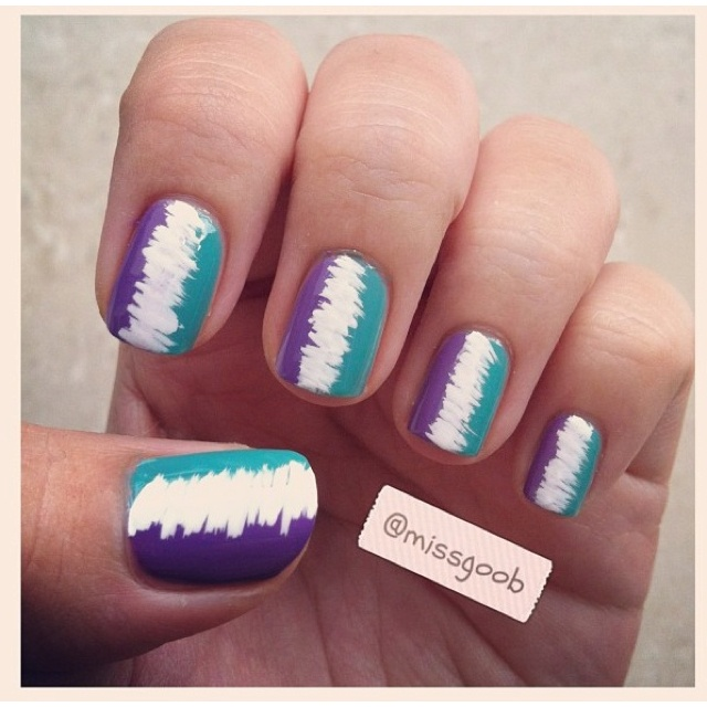 LoveNails Art, London, Nails Colors, Cute Nails, Butter, Ties Dyes, Easy Teal Nails Design, Polish, Blue Nails