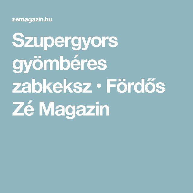 Szupergyors gyömbéres zabkeksz • Fördős Zé Magazin