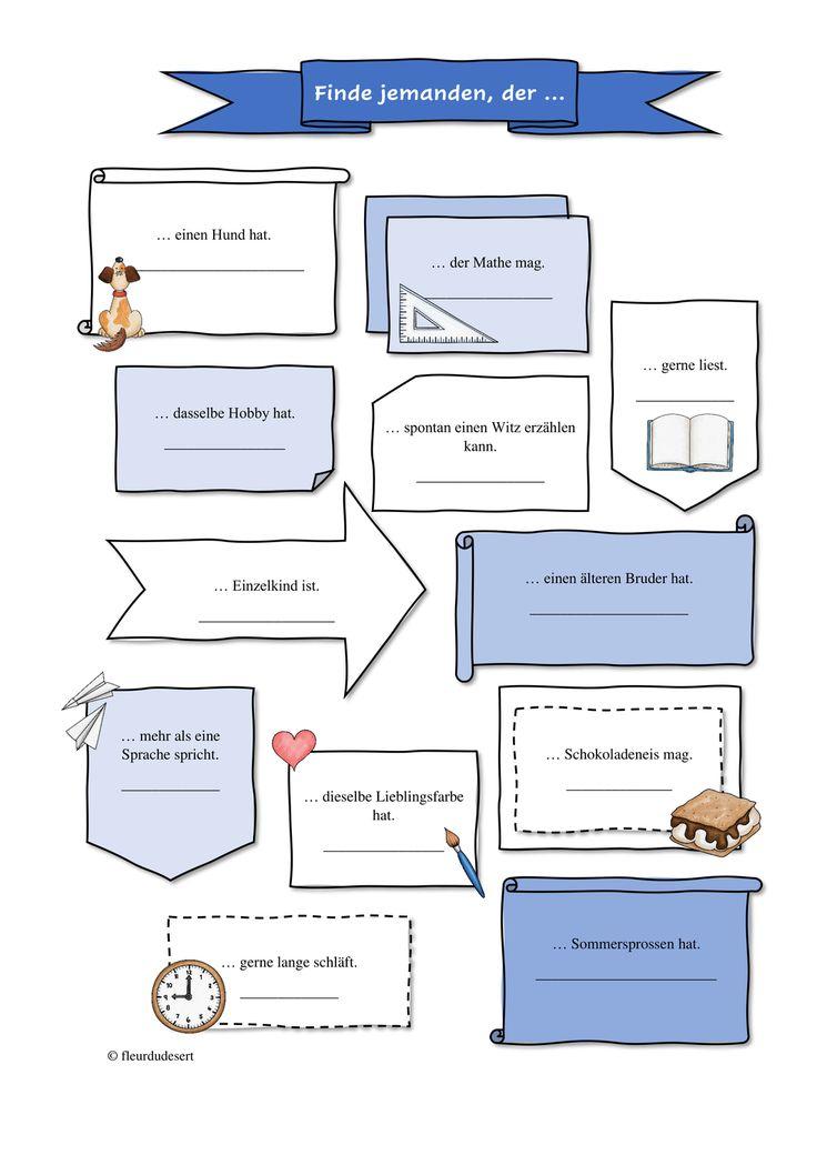 Fragebogen kennenlernen unterricht