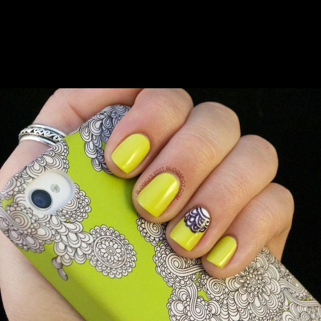 Cool nail art. No link. And not my art!