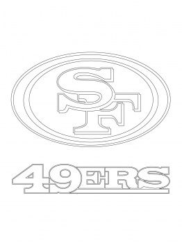 san francisco 49ers coloring pages | San Francisco 49ers Logo coloring page | Super Coloring