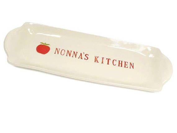 Nonna's Kitchen Dish, Italian Kitchen, Grandmother Gift, Nonna Birthday, Italian Grandmother, Kitchen Décor, Appetizer Plate, Snack Tray