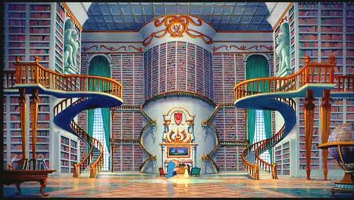 Disney gave me unrealistic expectations of a future home, among other things :) Desperately want this library <3