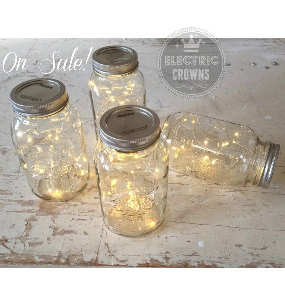 Woodland Wedding Decor| Fireflies | Rustic Wedding Boho Wedding Decor | String of Lights | ONE FREE! *Jar not included*