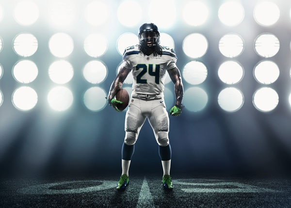 Even before Nike unveiled its innovative NFL uniforms, the Seahawks' new-look design modeled by Pro Bowl strong safety Kam Chancellor had other players green with envy.: Photo Ideas, Sports Photos, Bowl Strong, Nike Unveiled