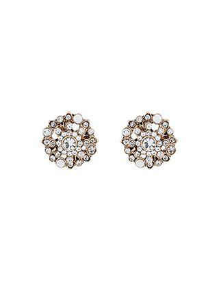 Crystal Sparkle Stud Earrings