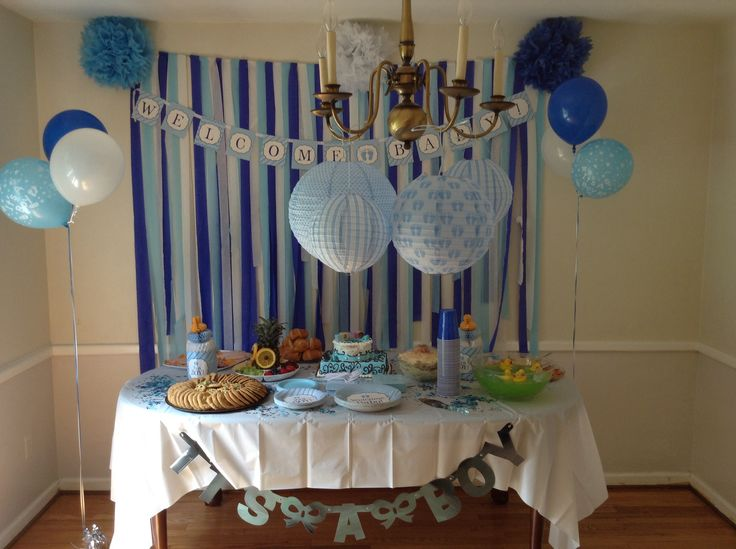 This is were we displayed the cake and finger foods