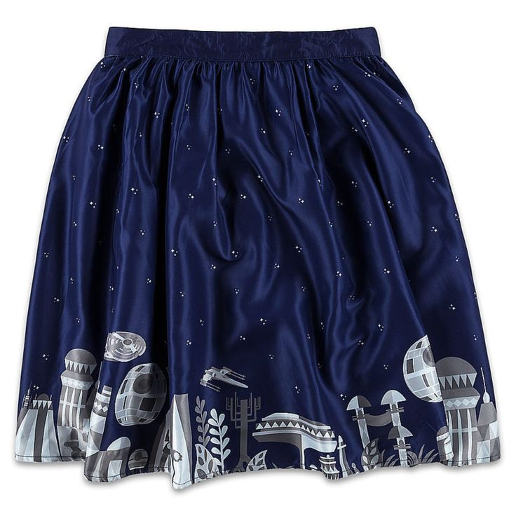 Her Universe x Star Wars Ashley Taylor artwork Galactic Skirt at the Disney Store ⭐️ Star Wars fashion ⭐️ Geek Fashion ⭐️ Star Wars Style ⭐️ Geek Chic ⭐️