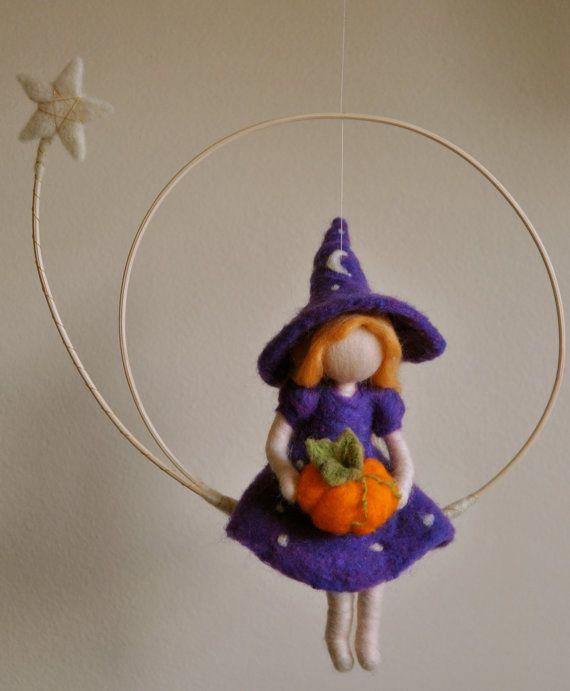 Halloween decoración Waldorf inspirado de fieltro por MagicWool