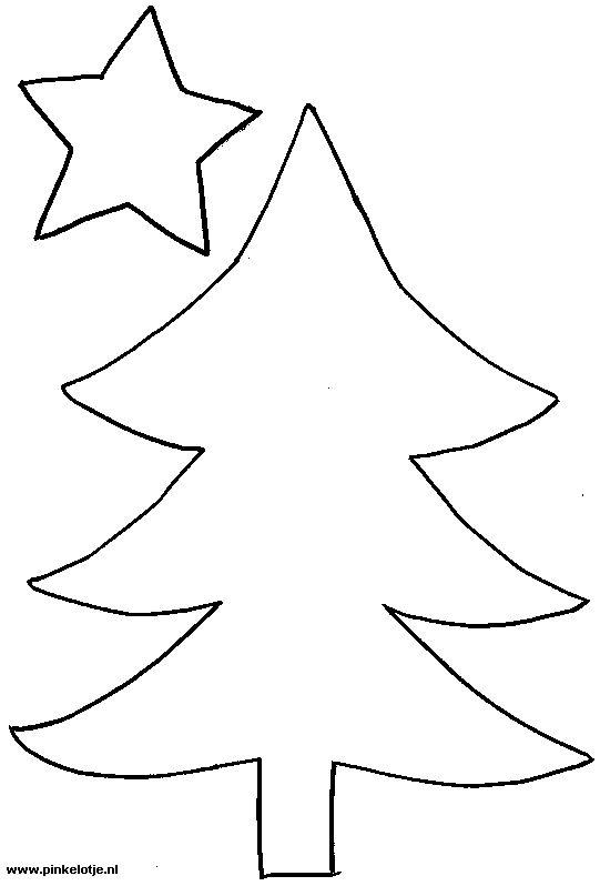 Mal voor kerstboom - Kerst   Pinterest - Kerst, Vilt en ...