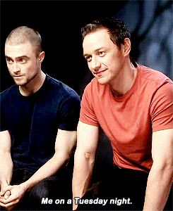 James McAvoy  and Daniel Radcliffe... These two should make a lot of movies together.