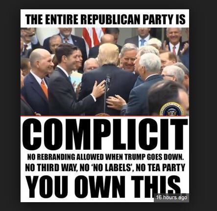"""The Republican Party is nothing more than a Corrupt Hate Group. No more """"Grand Ole' Party."""" To win at all cost they embraced The Ugliest Of America and Sold their Souls to The Devil. We now have the most Corrupt Government Ever. Republicans"""