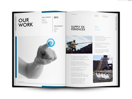 Best Company Profile Images On   Editorial Design