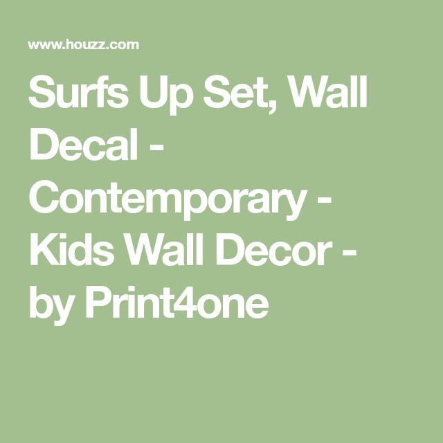 Surfs Up Set, Wall Decal - Contemporary - Kids Wall Decor - by Print4one