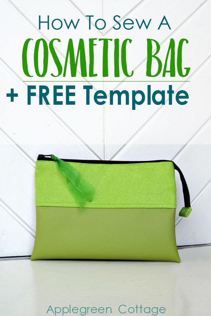 How to Sew a Cosmetic Bag | Make a quick and easy makeup bag with this free template!
