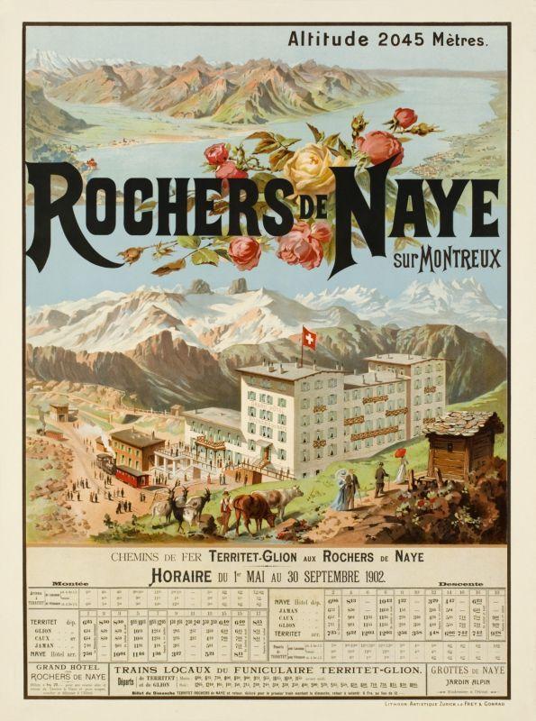 Rochers de Naye sur Montreux (by Reckziegel Anton / 1902)