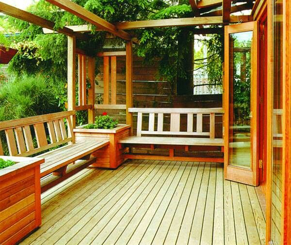 Built In Deck Seating