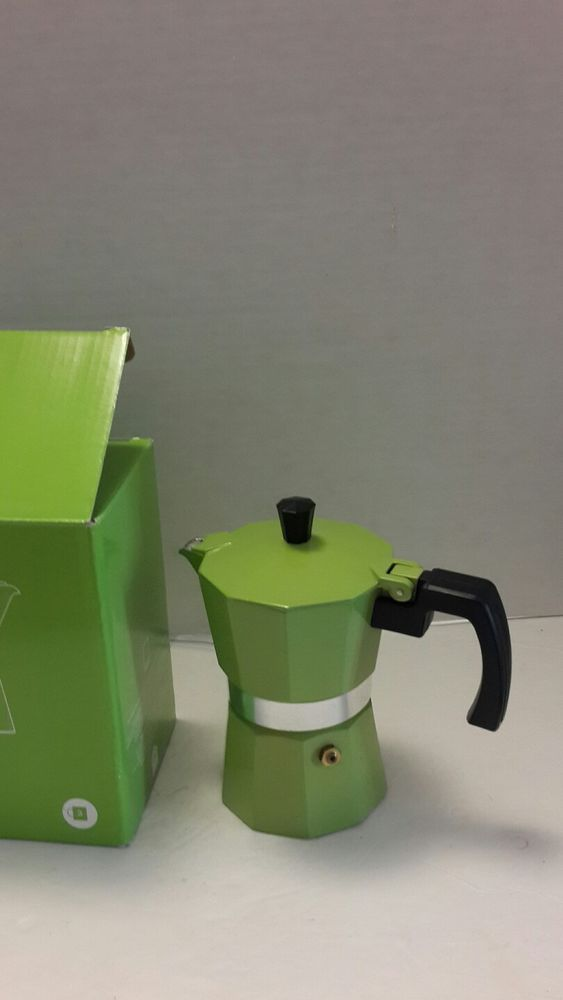 Pantone Universe 3 Cup Percolator Coffee Maker Green Shoots 2294 #WhitbreadWilkinson