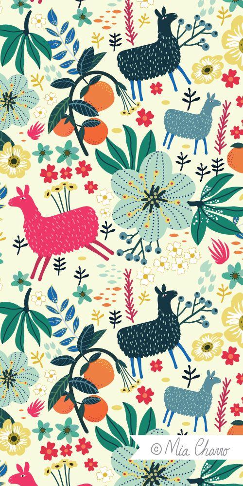 Drawn Llama Wallpaper 12 Alpaca Love Mia Charro