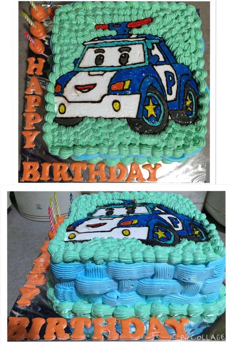 Robocar Poli cake for my friend son.