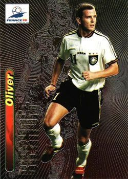 Oliver Bierhoff of Germany. 1998 World Cup Finals card.