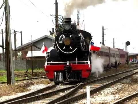 Tren de la Araucania, dejando la estación de Victoria. | http://pintubest.com