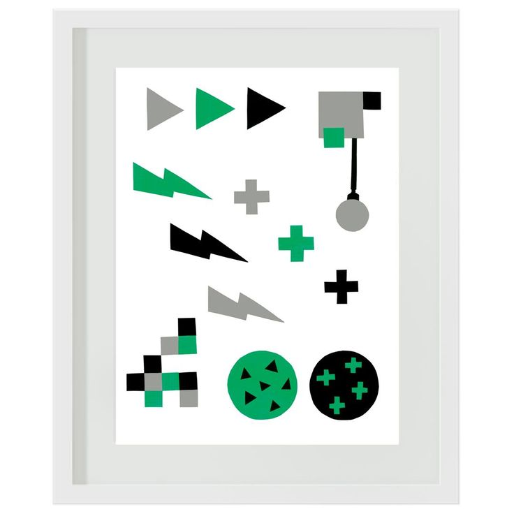 Green and Grey Storm: #boys #green #grey #bedroom #decor #wallart #artprints #lightning #crosses #minecraft