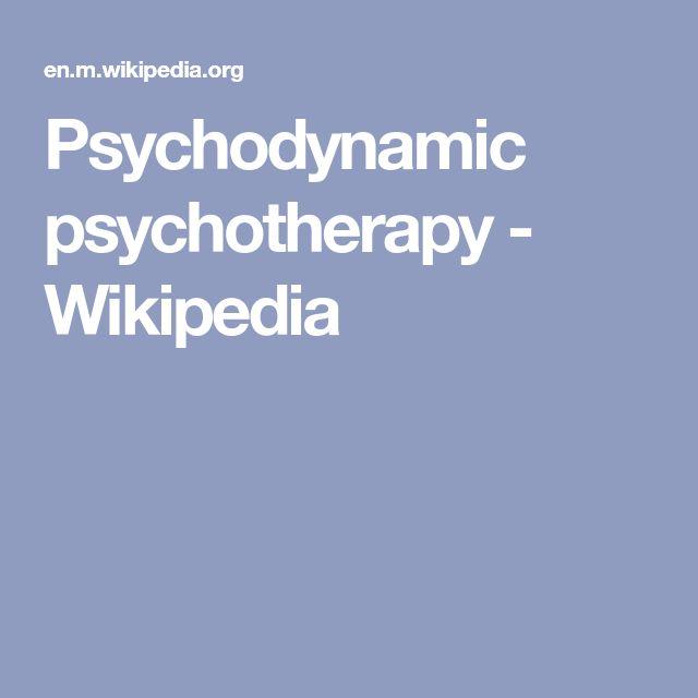 Psychodynamic psychotherapy - Wikipedia
