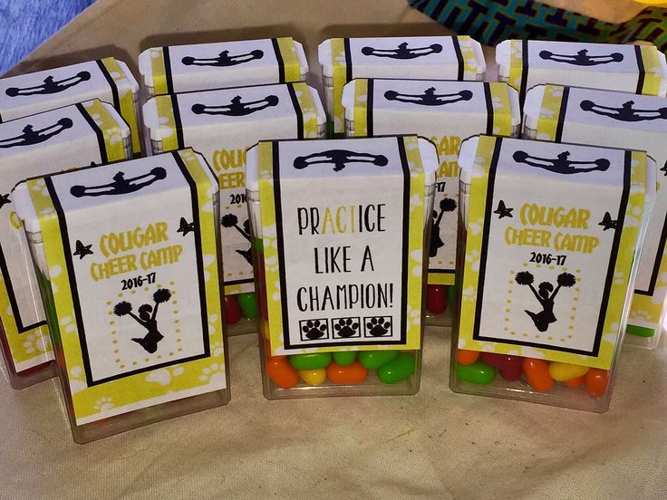 Tic tacs for cheer camp swag bags