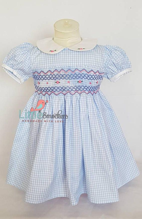 Check out this item in my Etsy shop https://www.etsy.com/au/listing/532931125/beautiful-light-blue-hand-smocked-and