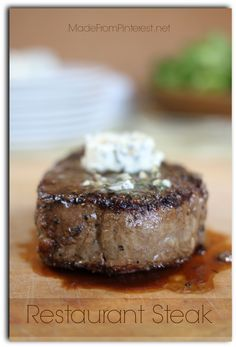 Restaurant Steak is the best way to make filet mignon and it is EASY! 15 minutes is all it takes to cook the best steak you have ever had.