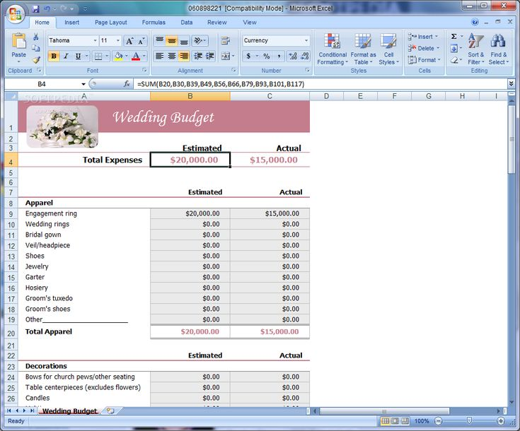 wedding budget template | Wedding Ideas | Pinterest | Wedding ...