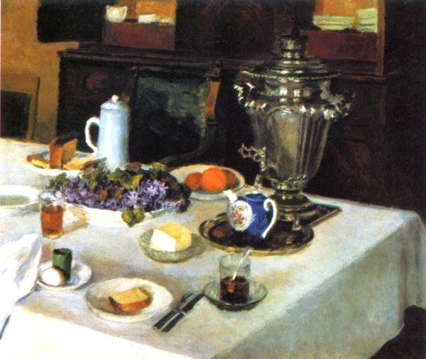 Morning tea (1939-54) Ígor Emmanuílovich Grabar (Игорь Эммануилович Грабарь. Unión Soviética, 1871-1960)