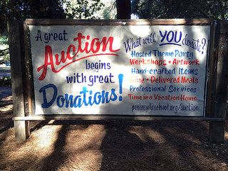 "Good saying to use on materials ""A great auction begins with great donations"" - Maybe give donator one ticket at face value."