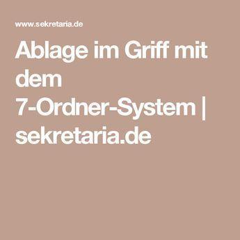 Ablage im Griff mit dem 7-Ordner-System | sekretaria.de