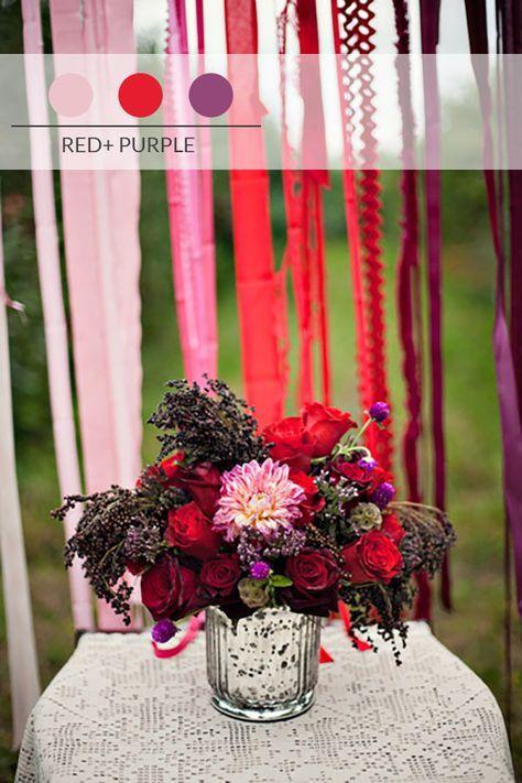 matrimonio autunnale rosso e viola
