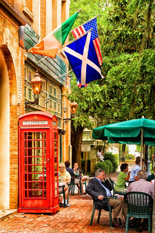 We loved the Six Pence Pub in Savannah! I actually got a picture inside this phone booth.. So fun! If we ever relocated, Savannah would be a choice!