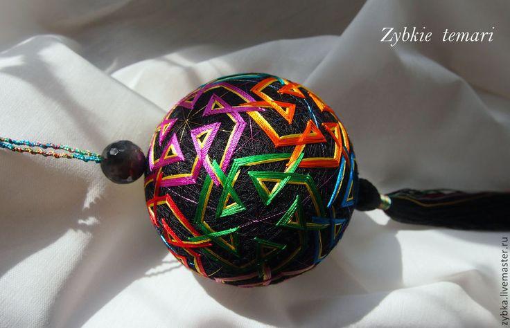 """Купить Темари """"12 месяцев"""" - разноцветный, радуга, темари, украшение, украшение интерьера, подвеска в машину"""