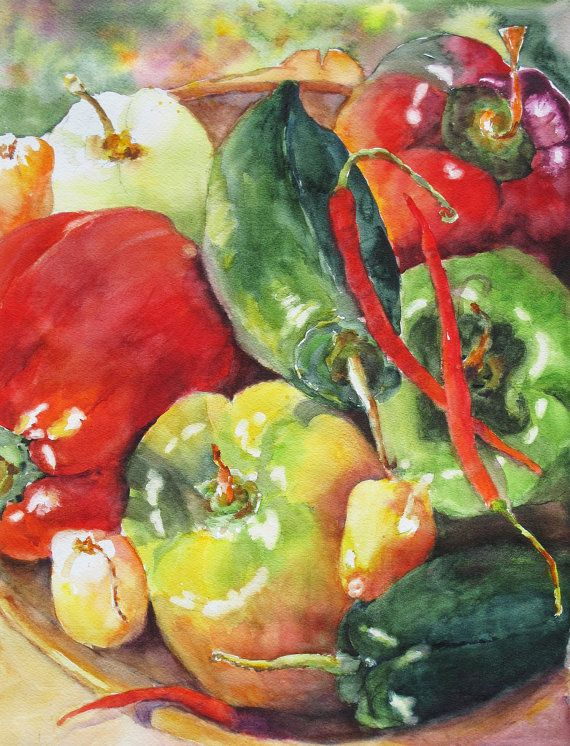 Top 25 ideas about watercolor fruit on pinterest for Vegetable patch